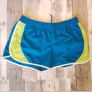 Nike teal elastic waist athletic running shorts